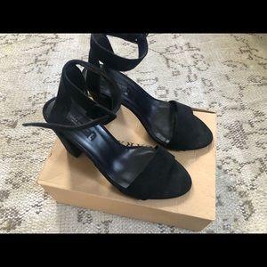 Zara black sandal heel size 36